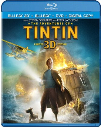 The Adventures of Tintin (2011) (Blu-ray 3D (+2D) + Blu-ray + DVD)