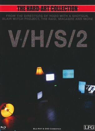 V/H/S 2 - S-VHS - Cover B - The Hard-Art Collection (2013) (Limited Edition, Mediabook, Uncut, Blu-ray + DVD)