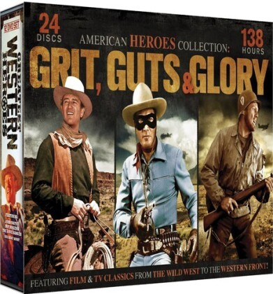 American Heroes Collection: Grit, Guts & Glory (24 DVDs)