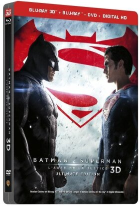 Batman v Superman - L'Aube de la Justice (2016) (Kinoversion, Langfassung, Steelbook, Ultimate Edition, Blu-ray 3D + Blu-ray + DVD)