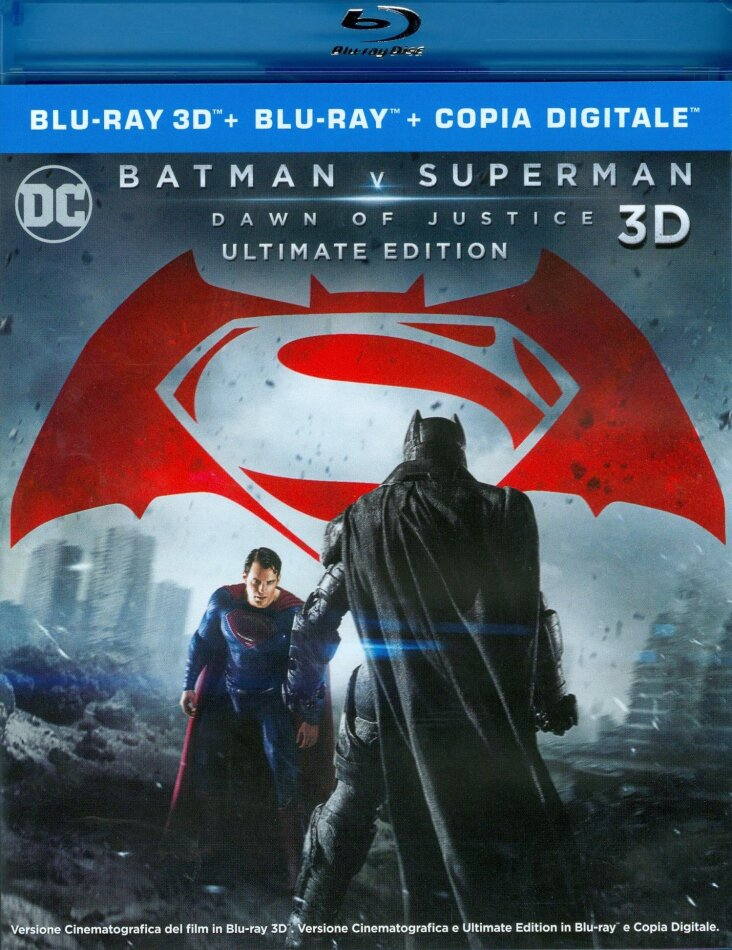 Batman v Superman - Dawn of Justice (2016) (Extended Cut, Version Cinéma, Édition Ultime, Blu-ray 3D + 2 Blu-ray)