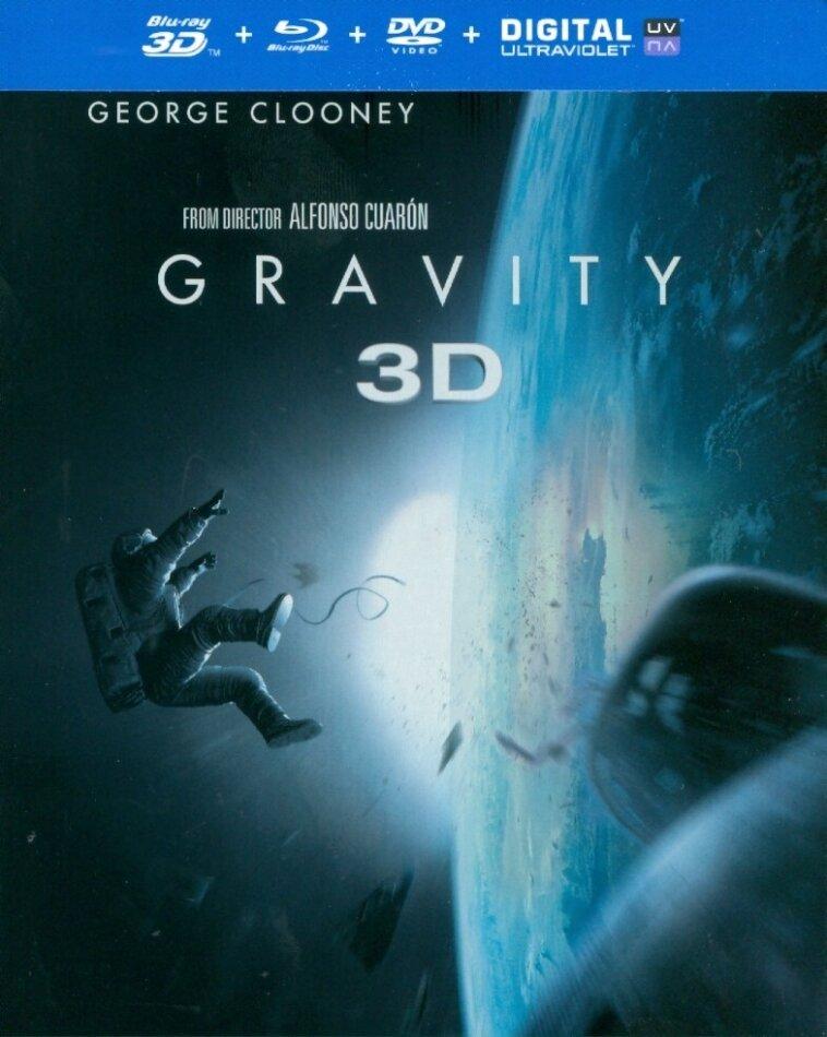 Gravity (2013) (Steelbook, Blu-ray 3D + Blu-ray + DVD)