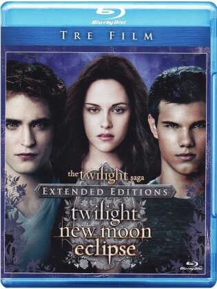 Twilight Saga - Tre Film (Extended Edition, 3 Blu-rays)