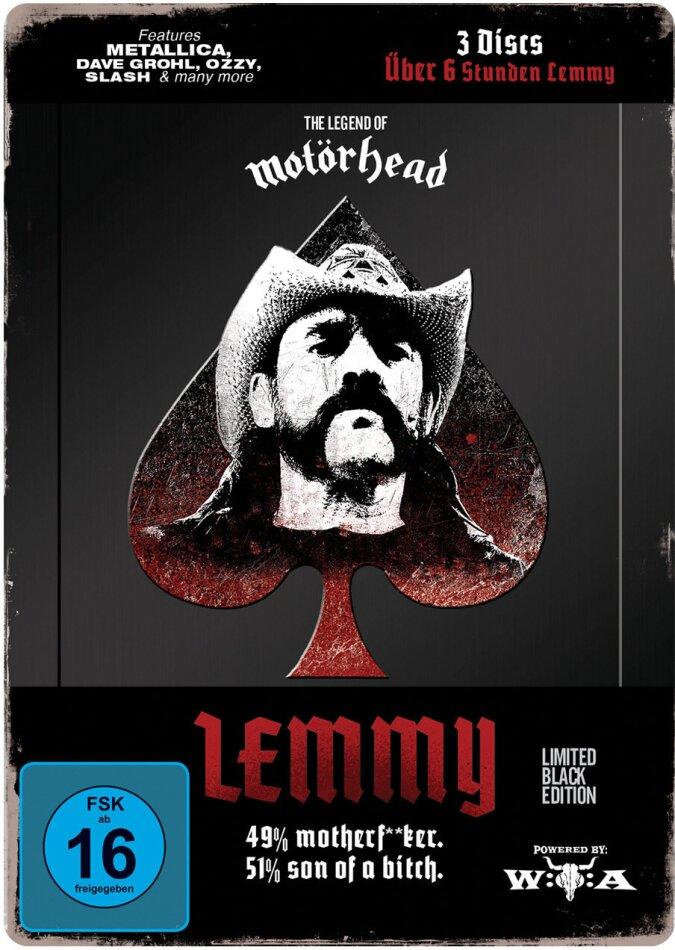 Lemmy Kilmister - Lemmy (Limited Black Edition) (Steelbook, 3 DVDs)