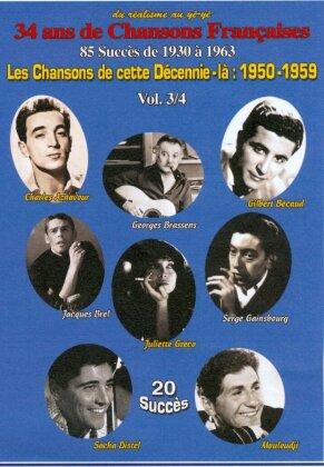 Les Chansons de cette Décennie-là: 1950-1959 Vol. 3/4 (s/w) - Various Artists