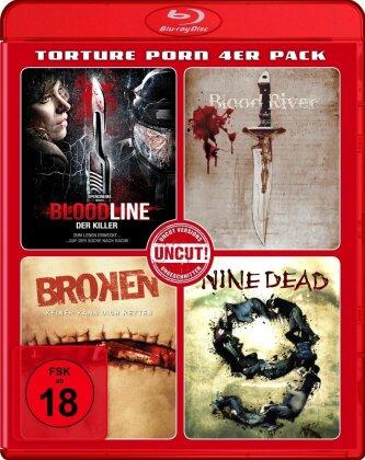 Bloodline / Blood River / Broken / Nine Dead - Torture Porn 4er Pack (Uncut)