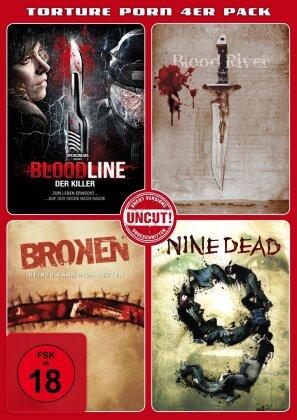 Torture Porn 4er Pack - Bloodline / Blood River / Broken / Nine Dead (Uncut)
