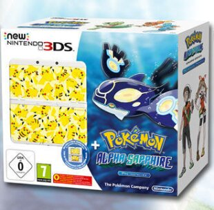 New Nintendo 3DS Bundle - Pokemon Alpha Sapphire + Coverplate