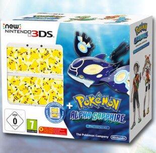 New Nintendo 3DS Bundle - Pokemon Alpha Sapphire + Coverplate