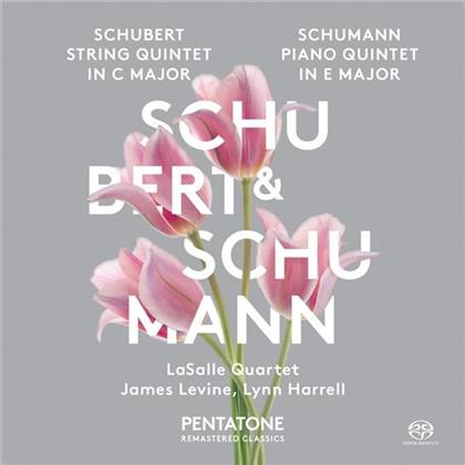 Franz Schubert (1797-1828), Robert Schumann (1810-1856), Lynn Harrell, James Levine & Lasalle Quartet - String Quintet D956 / Piano Quintet (SACD)