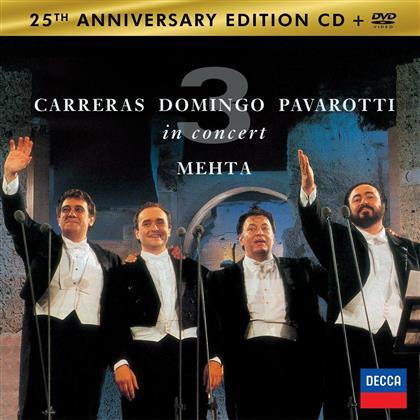 Placido Domingo, Luciano Pavarotti, Zubin Mehta & José Carreras - Three Tenors (25th Anniversary Edition, CD + DVD)