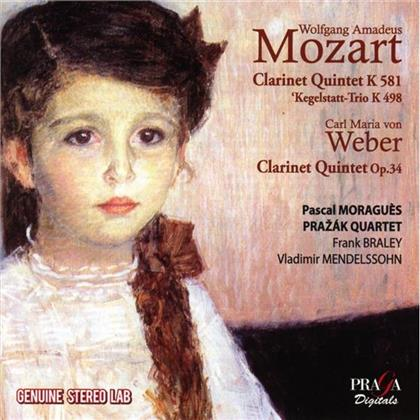 Quatuor Prazak, Wolfgang Amadeus Mozart (1756-1791), Weber Christiane, Pascal Moragués, Vladimir Mendelssohn, … - Clarinet Quintet K.581 / Clarinet Quinte