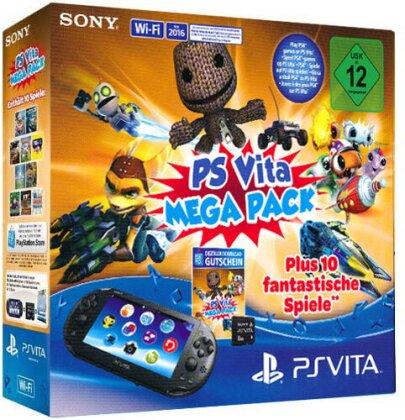 PSVita Konsole Mega Pack + 8GB MC DLC für 10 Spiele