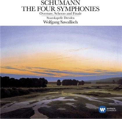 Robert Schumann (1810-1856), Wolfgang Sawallisch & Sächsische Staatskapelle Dresden - Sinfonien 1-4 / Overtüre - Referenzaufnahme (2 CDs)
