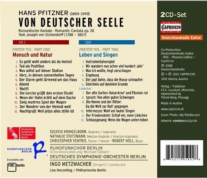 Hans Erich Pfitzner (1869 - 1949), Ingo Metzmacher, Solveig Kringelborn, Nathalie Stutzmann, Christopher Ventris, … - Von Deutscher Seele (2 CDs)