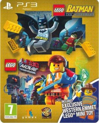 Lego Doppelpack Steelbook (Lego Batman + Lego Movie + Emmet Figur)