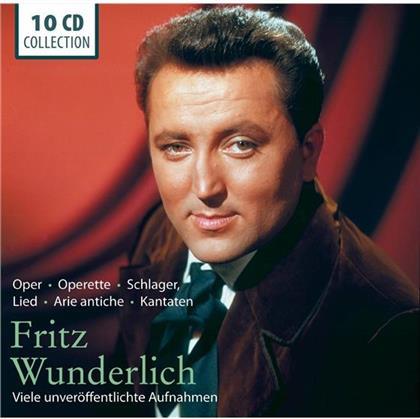Fritz Wunderlich - Oper, Operette, Schlager, Lied, Arie Antiche, Kantaten - Viele Unveröffentlichte Aufnahmen (10 CDs)