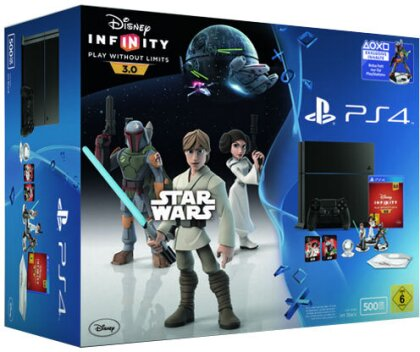Sony Playstation 4 500GB black + Disney Infinity 3.0 Star Wars