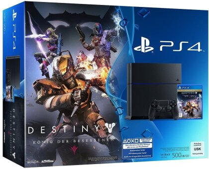 Sony Playstation 4 500GB black + Destiny: König der Besessenen
