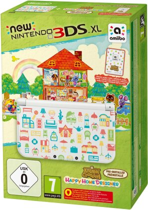 Nintendo 3DS XL Konsole + Animal Crossing Happy Home Designer Edition