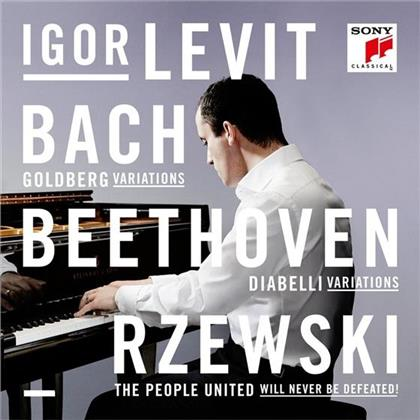 Johann Sebastian Bach (1685-1750), Ludwig van Beethoven (1770-1827), Rzewski & Igor Levit - Goldberg Variatons, Diabelli Variations, The People United Will Never Be Defeated (3 CDs)