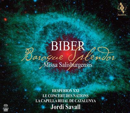 Heinrich Ignaz Franz von Biber (1644-1704), Jordi Savall, Le Concert des Nations & La Capella Reial De Catalunya - Missa Salisburgensis - Baroque Splendor (Hybrid SACD)