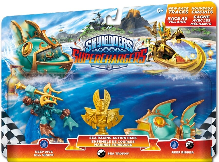 Skylanders Superchargers Racing Pack 1 Deep Dive Gill Grunt, Reef Ripper - Villain Sea Trophy
