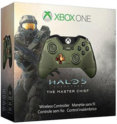 XBOX-One Controller wireless (Halo 5 Master Chief Edition grün) (Édition Limitée)