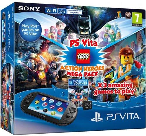 PSVita Konsole Mega Pack LEGO + 8GB DLC für 3 Lego Spiele