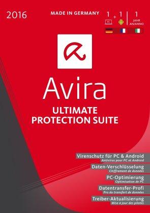 Avira Ultimate Protection Suite 2016 Swiss- 1 Gerät / 1 Jahr (PC)
