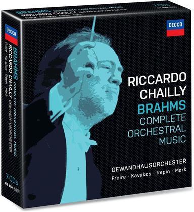 Johannes Brahms (1833-1897), Riccardo Chailly & Gewandhausorchester Leipzig - Complete Orchestral Music (7 CDs)