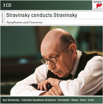 Igor Strawinsky (1882-1971) - Stravinsky Conducts Stravinsky - Symphonies And Concertos (3 CDs)