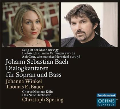 Thomas E. Bauer, Johanna Winkel, Chorus Musicus Köln, Johann Sebastian Bach (1685-1750), Christoph Spering, … - Dialogkantaten Für Sopran und Bass BWV 32, 57, 58