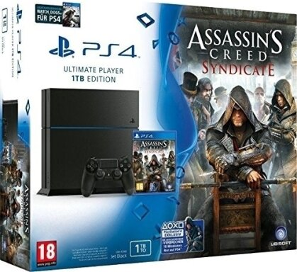 Sony Playstation 4 1TB Konsole mit Assassins Creed Syndicate + Watch Dogs