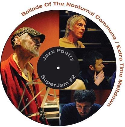 "Michael Horovitz, Damon Albarn (Blur/Gorillaz) & Graham Coxon (Blur) - Ballade Of The Nocturnal Commune - 7 Inch (7"" Single)"