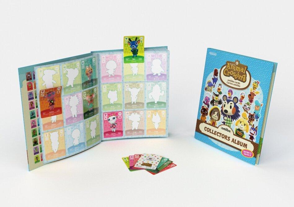Animal Crossing Amiibo Karten Sammelalbum 3 ( inkl. 3 Karten)