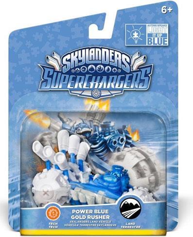 Power Blue Gold Rusher Single Vehicle for Skylanders SuperCharger