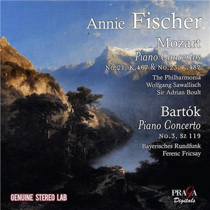Annie Fischer, Wolfgang Amadeus Mozart (1756-1791), Béla Bartók (1881-1945), Sir Adrian Boult, Ferenc Fricsay, … - Piano Concertos