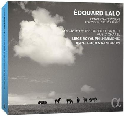 Soloists of the Queen Elisabeth Music Chapel, Edouard Lalo (1823-1892), Jean-Jacques Kantorow & Liege Royal Philharmonic - Concertante Works For Violin, Cello & Piano (3 CDs)