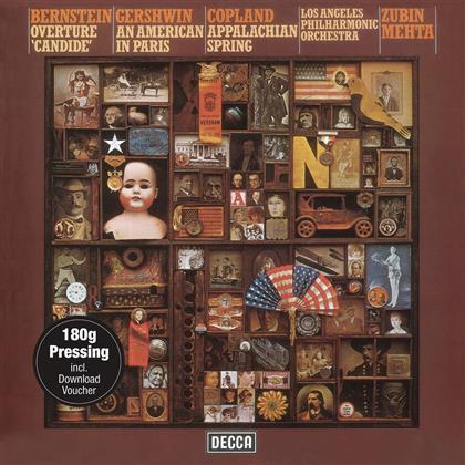 Leonard Bernstein (1918-1990), George Gershwin (1898-1937), Aaron Copland (1900-1990) & Zubin Mehta - Bernstein/Gershwin/Copland (Vinyl/180gr/Dc) (LP + Digital Copy)