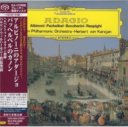 Berliner Philharmoniker, Tomaso Albinoni (1671-1751), Johann Pachelbel (1653-1706), Luigi Boccherini (1743-1805), Ottorino Respighi (1879-1936), … - Adagio - SHM (SACD)