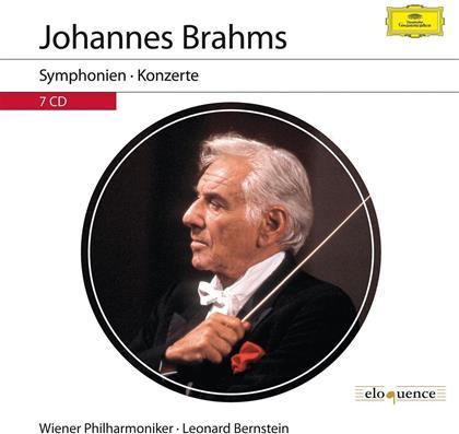 Johannes Brahms (1833-1897), Leonard Bernstein (1918-1990), Gidon Kremer & Mischa Maisky - Symphonien & Konzerte (7 CDs)
