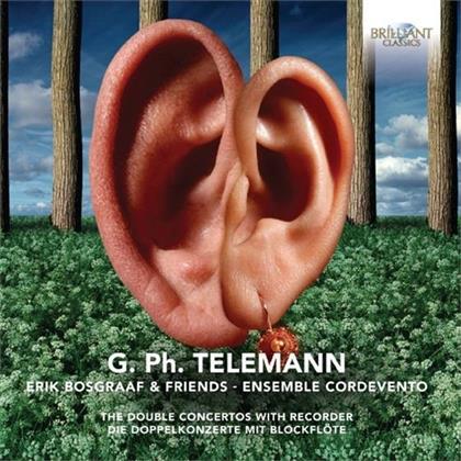 Robert Smith, Georg Philipp Telemann (1681-1767), Anna Besson, Erik Bosgraaf, Li-Chang Liang, … - Double Concertos With Recorder