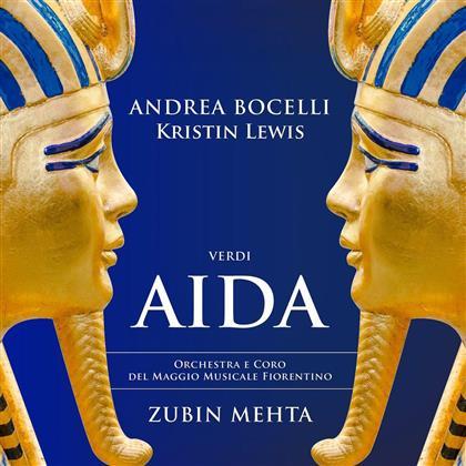 Kristin Lewis, Zubin Mehta, Giuseppe Verdi (1813-1901), Andrea Bocelli & Orchestra e coro del Maggio Musicale Fiorentino - Aida (Digipack, 2 CDs)