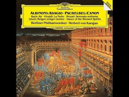 Berliner Philharmoniker, Tomaso Albinoni (1671-1751), Antonio Vivaldi (1678-1741), Johann Sebastian Bach (1685-1750) & Herbert von Karajan - Adagio + Kanon (LP)
