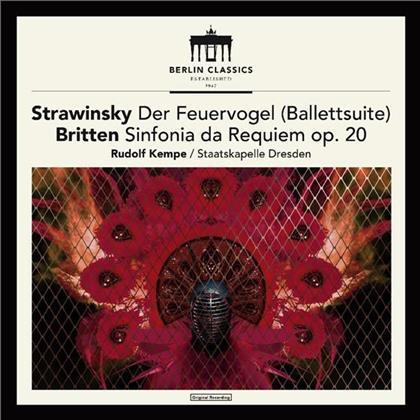 Rudolf Kempe, Igor Strawinsky (1882-1971), Benjamin Britten (1913-1976) & Sächsische Staatskapelle Dresden - Der Feuervogel / Sinfonia Da Requiem op 20