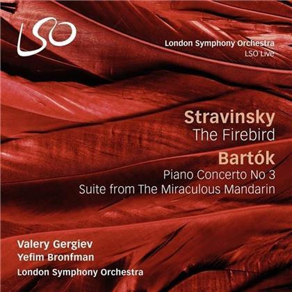 Yefim Bronfman, Valery Gergiev, Igor Strawinsky (1882-1971) & Béla Bartók (1881-1945) - Firebird / Piano Concerto 3 / Mandarin (2 CDs)