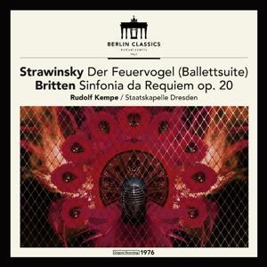 Igor Strawinsky (1882-1971), Benjamin Britten (1913-1976), Rudolf Kempe & Sächsische Staatskapelle Dresden - Der Feuervogel Balletsuite, Sinfonia da Requiem op.20 (LP)