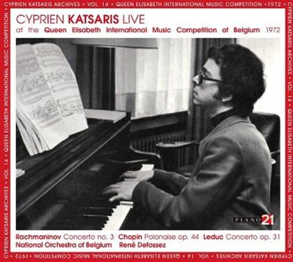 Sergej Rachmaninoff (1873-1943), Frédéric Chopin (1810-1849), Leduc, René Defossez, Cyprien Katsaris, … - Cyprien Katsaris Live At The Queen Elisabeth International Music Competition of Belgium 1972