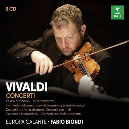 Orchestra Europa Galante, Antonio Vivaldi (1678-1741) & Fabio Biondi - Concerti (9 CDs)